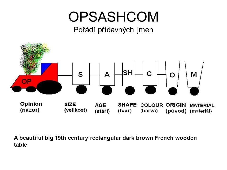 OPSASHCOM Pořádí přídavných jmen