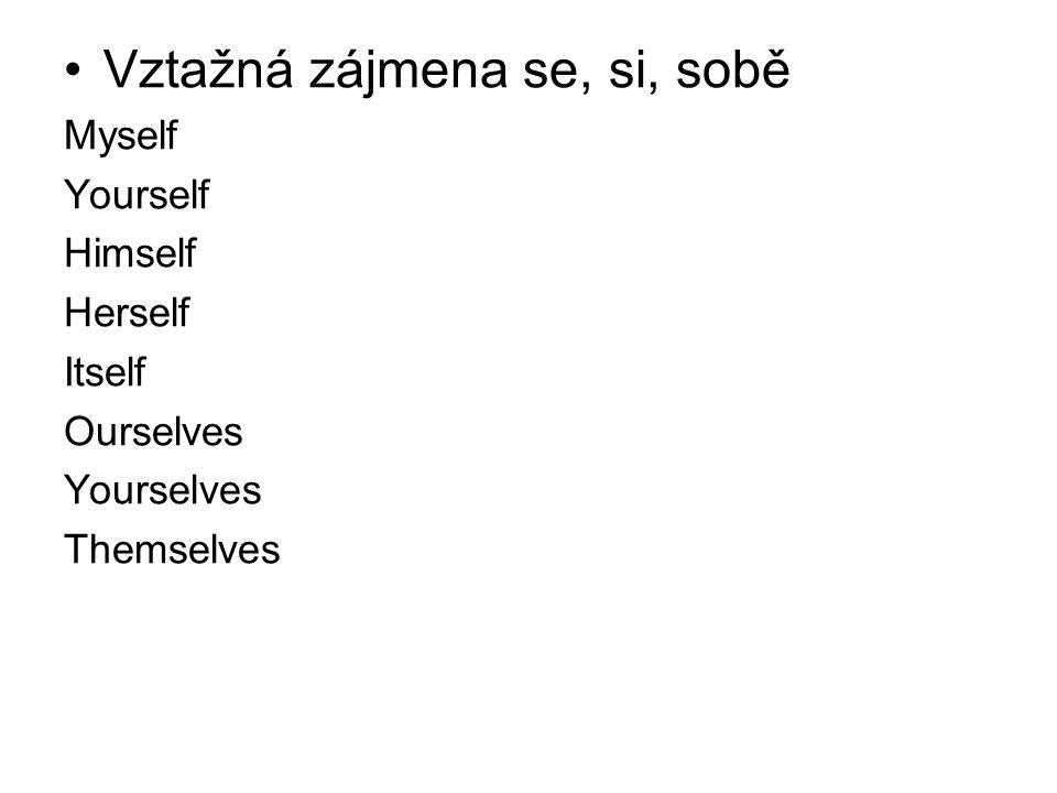 Vztažná zájmena se, si, sobě