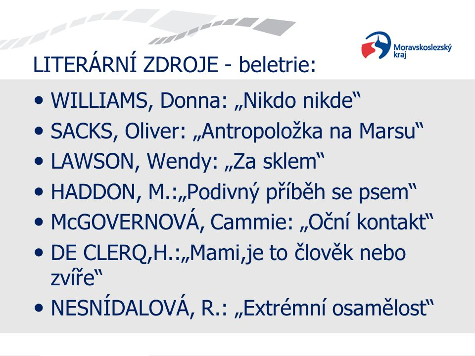 LITERÁRNÍ ZDROJE - beletrie: