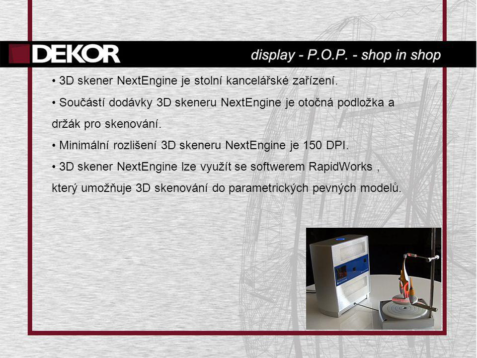 3D skener NextEngine je stolní kancelářské zařízení.