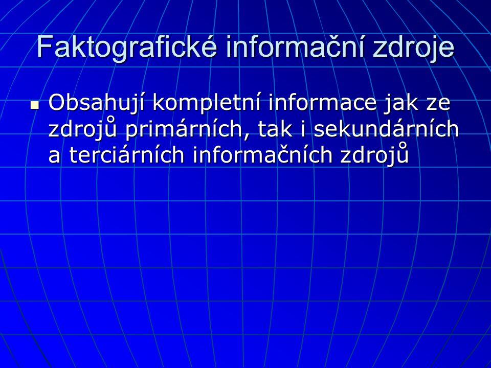 Faktografické informační zdroje