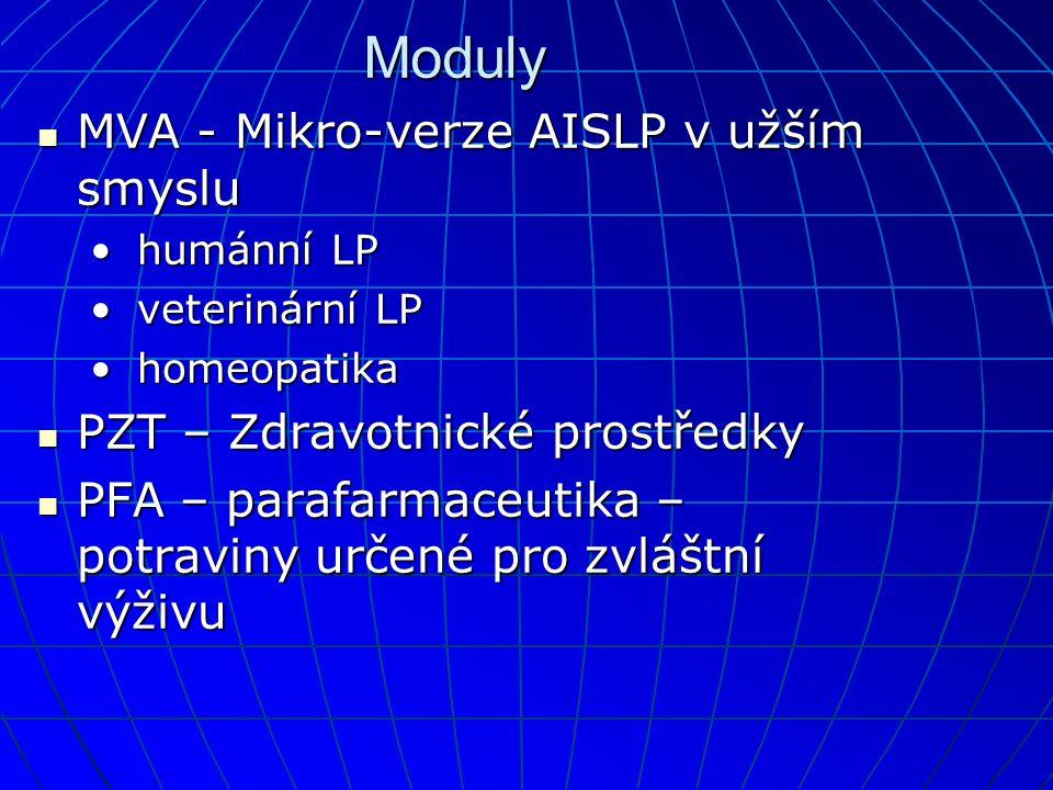 Moduly MVA - Mikro-verze AISLP v užším smyslu