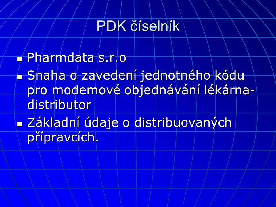 PDK číselník Pharmdata s.r.o