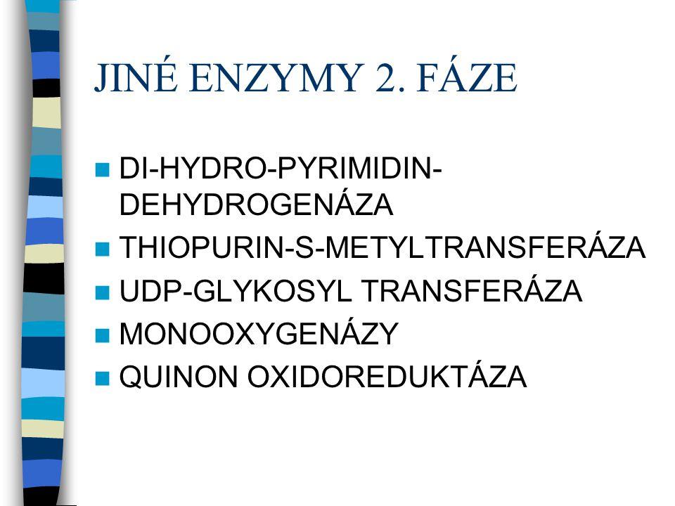 JINÉ ENZYMY 2. FÁZE DI-HYDRO-PYRIMIDIN-DEHYDROGENÁZA