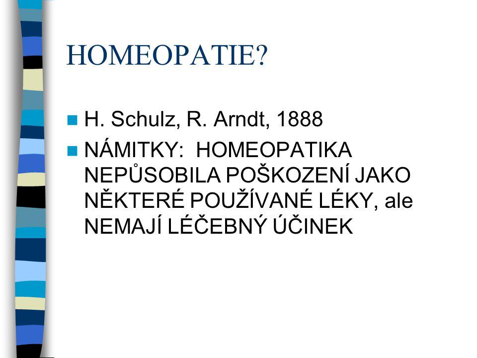 HOMEOPATIE H. Schulz, R. Arndt, 1888