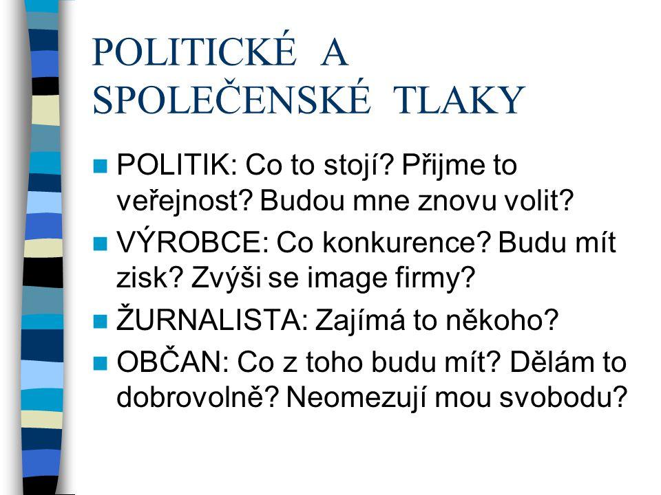 POLITICKÉ A SPOLEČENSKÉ TLAKY