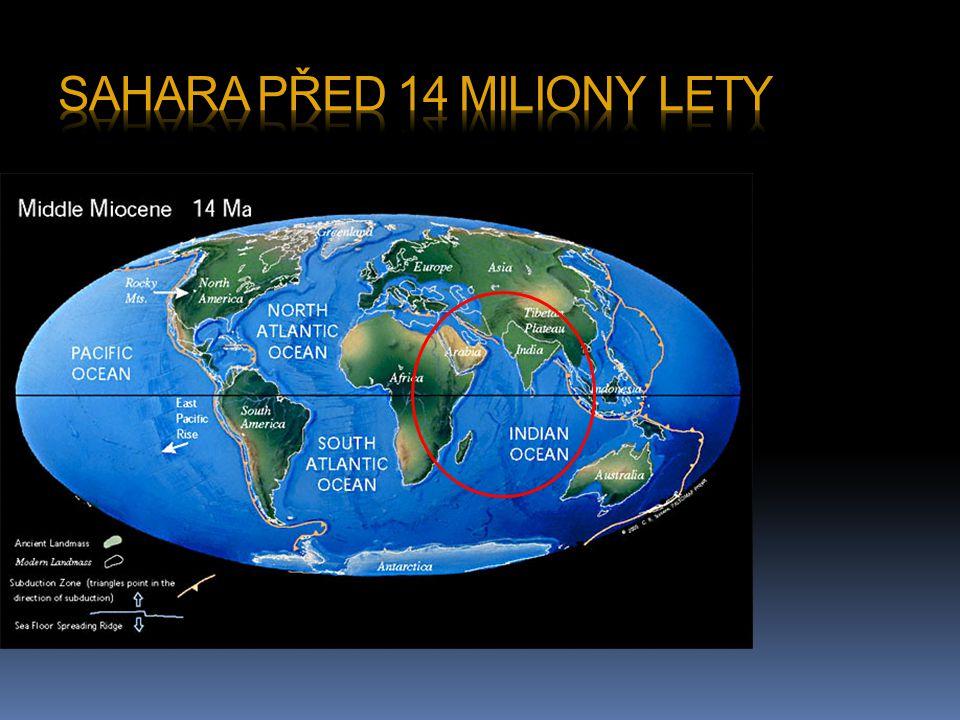 Sahara před 14 miliony lety