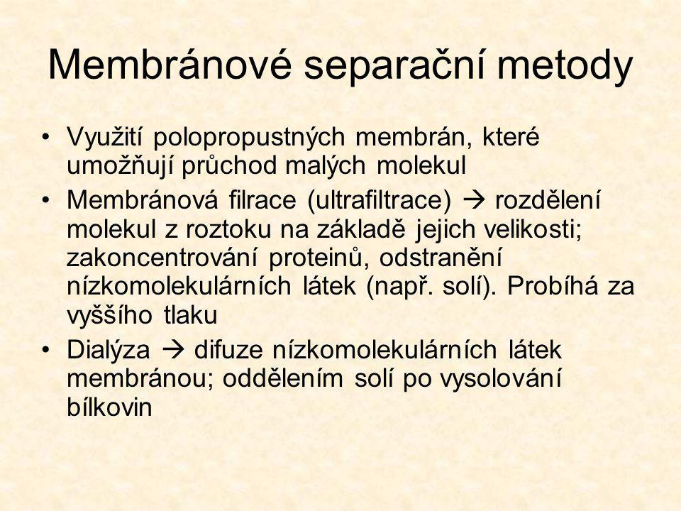 Membránové separační metody