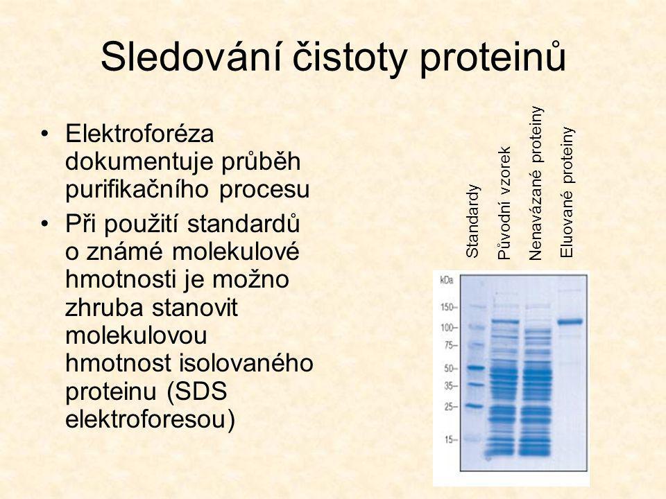 Sledování čistoty proteinů