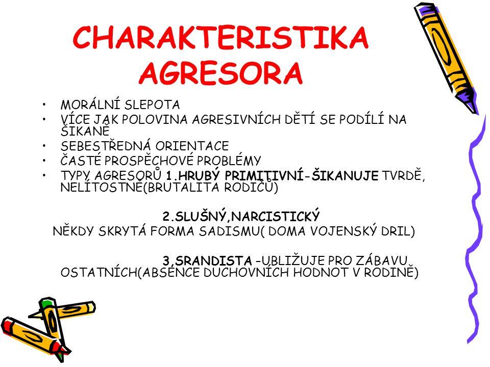 CHARAKTERISTIKA AGRESORA