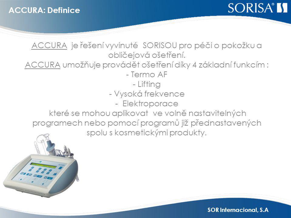 ACCURA umožňuje provádět ošetření díky 4 základní funkcím : - Termo AF
