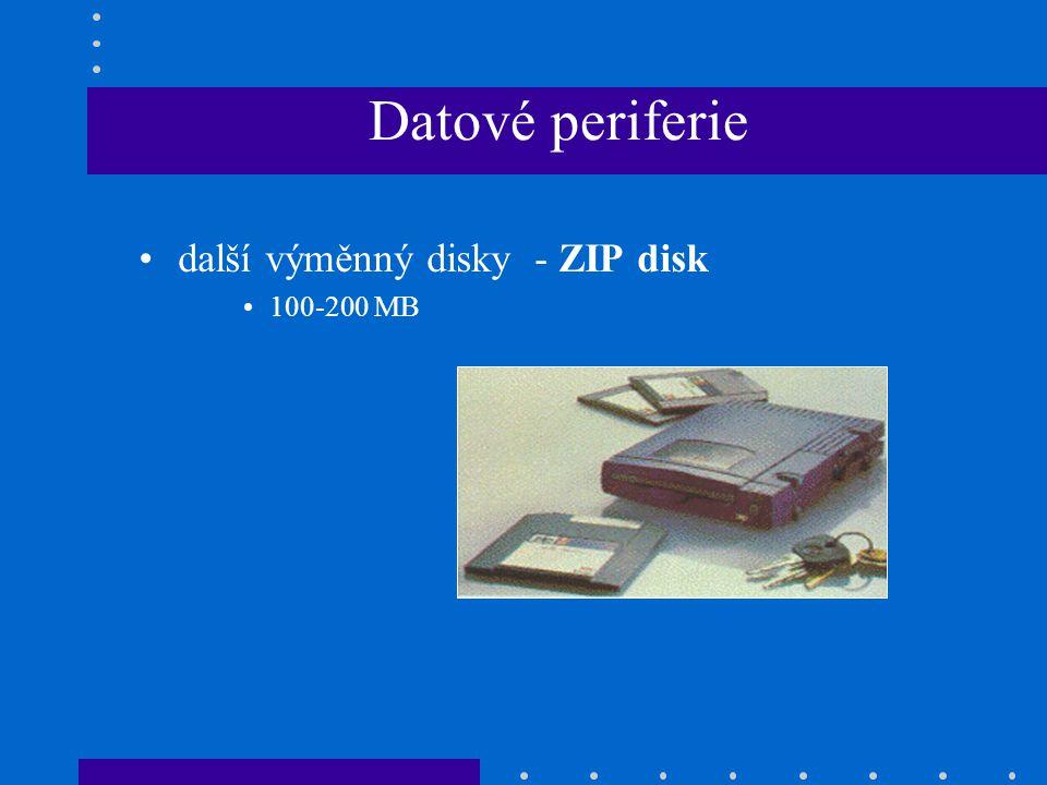 Datové periferie další výměnný disky - ZIP disk 100-200 MB