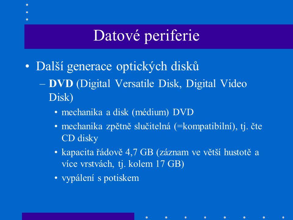 Datové periferie Další generace optických disků