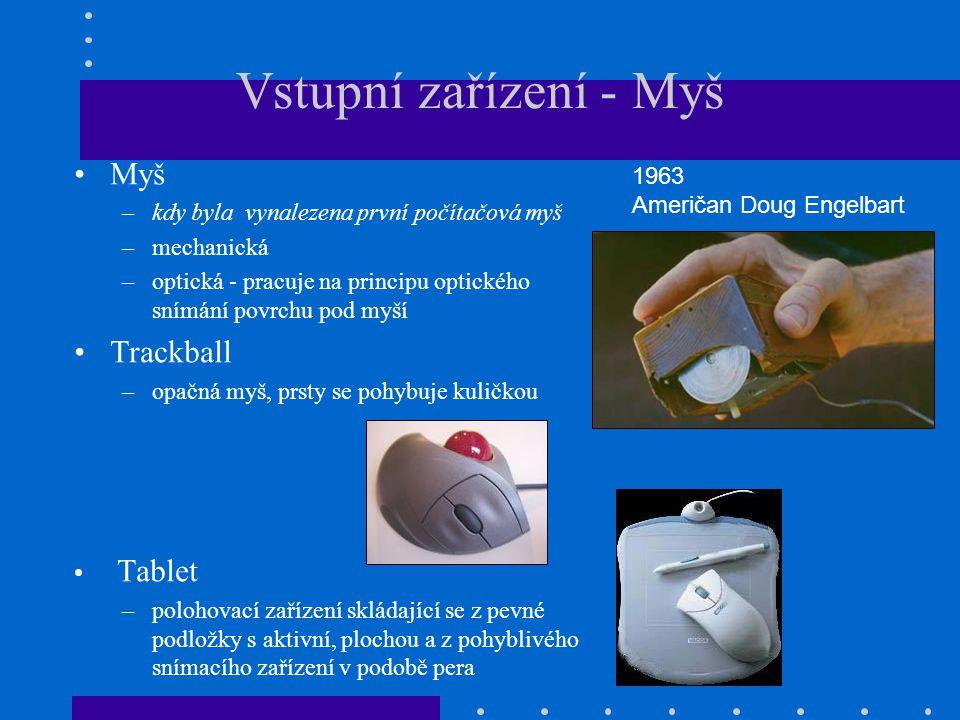 Vstupní zařízení - Myš Myš Trackball Tablet 1963