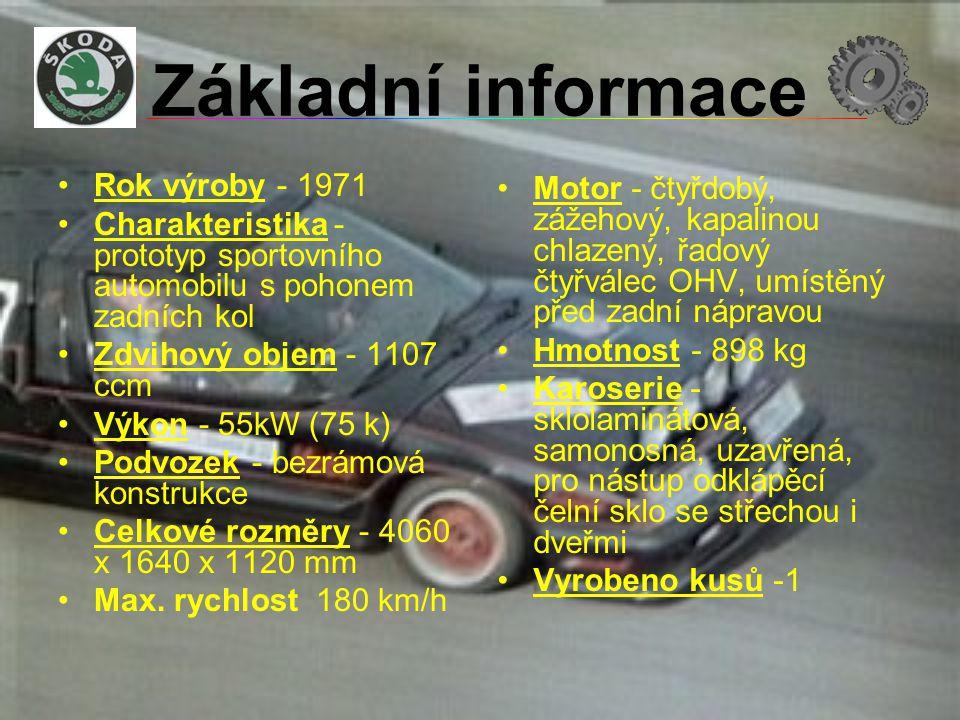 Základní informace Rok výroby - 1971