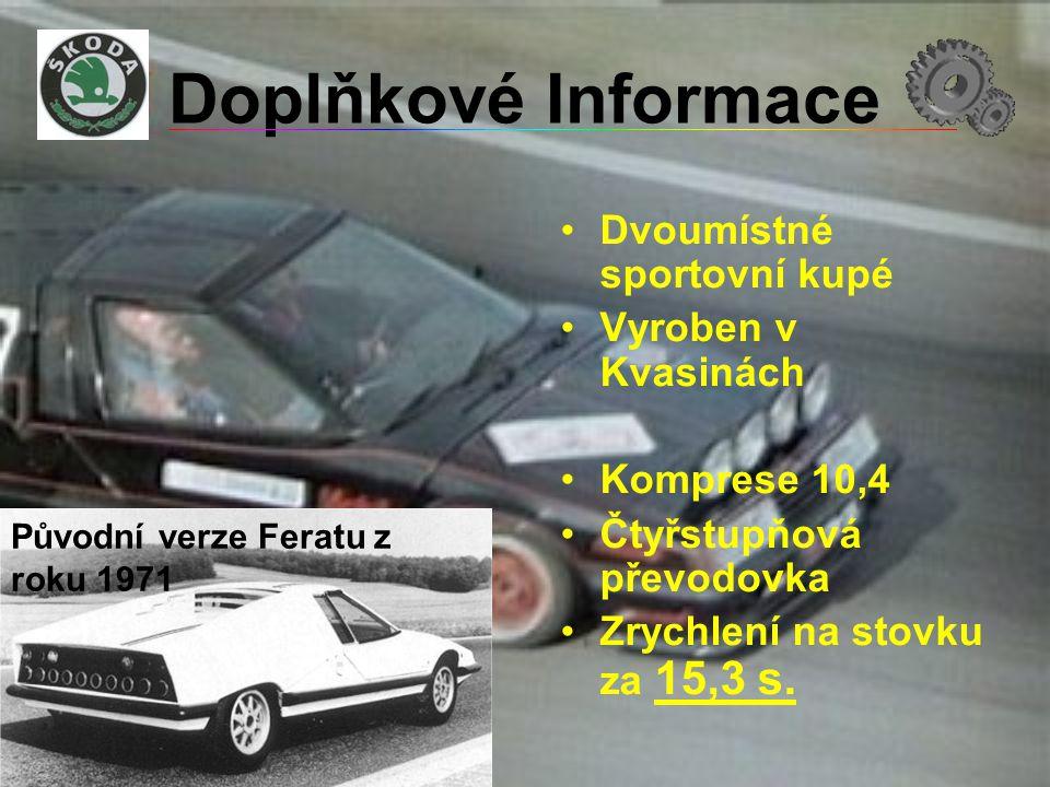 Doplňkové Informace Dvoumístné sportovní kupé Vyroben v Kvasinách