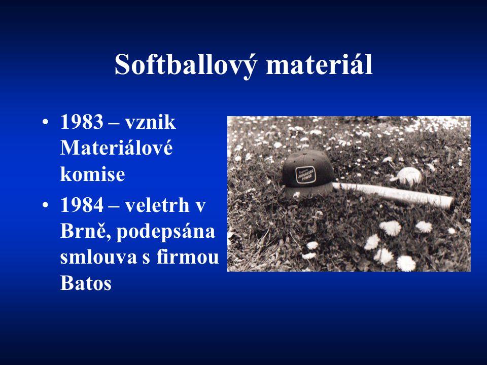Softballový materiál 1983 – vznik Materiálové komise