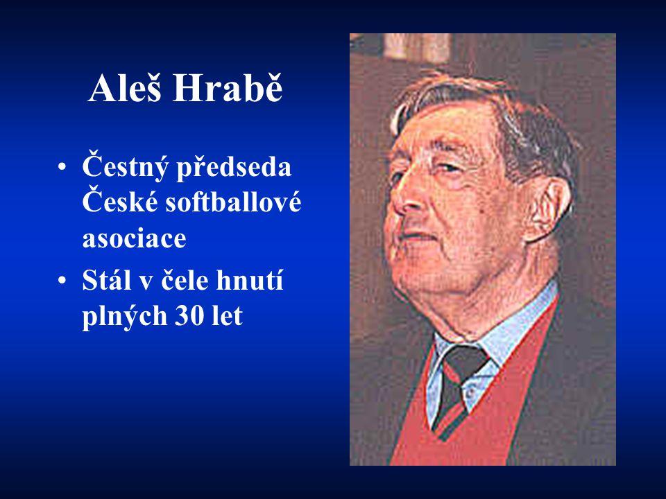 Aleš Hrabě Čestný předseda České softballové asociace