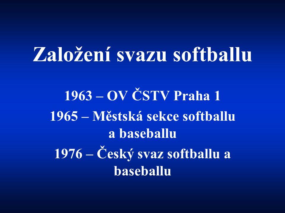 Založení svazu softballu