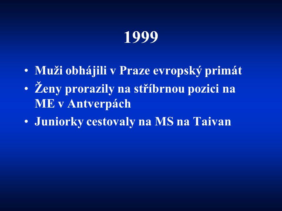 1999 Muži obhájili v Praze evropský primát