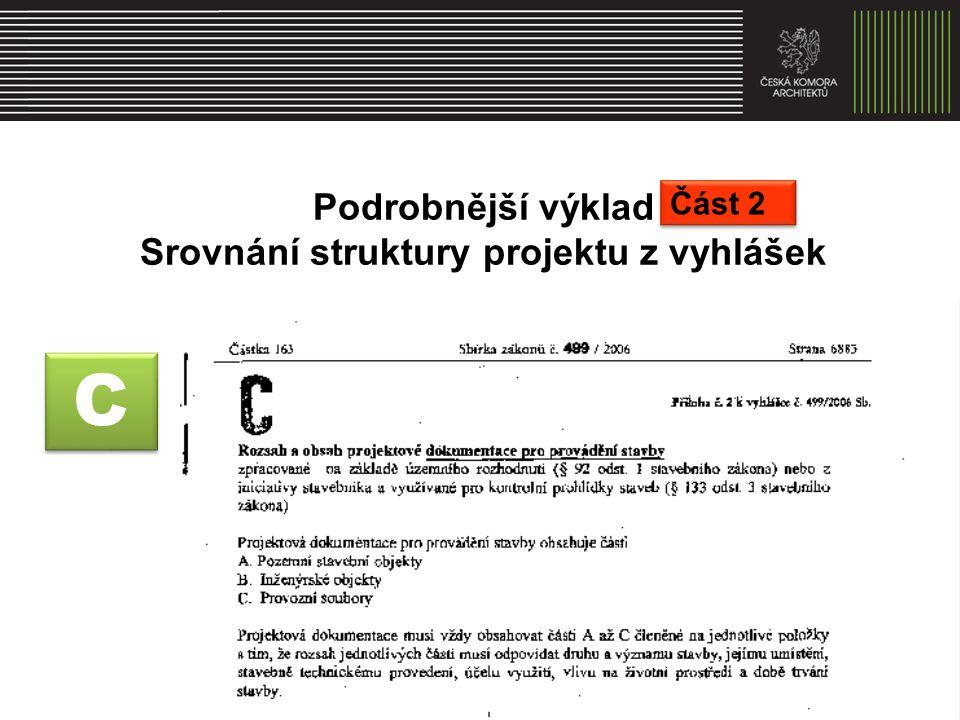 Srovnání struktury projektu z vyhlášek