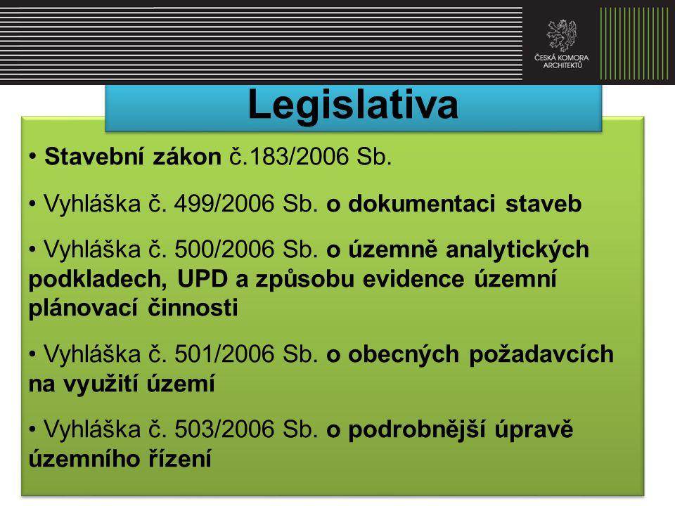 Legislativa Stavební zákon č.183/2006 Sb.