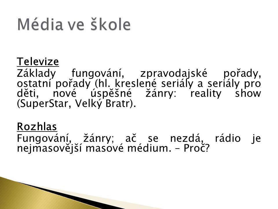 Média ve škole Televize