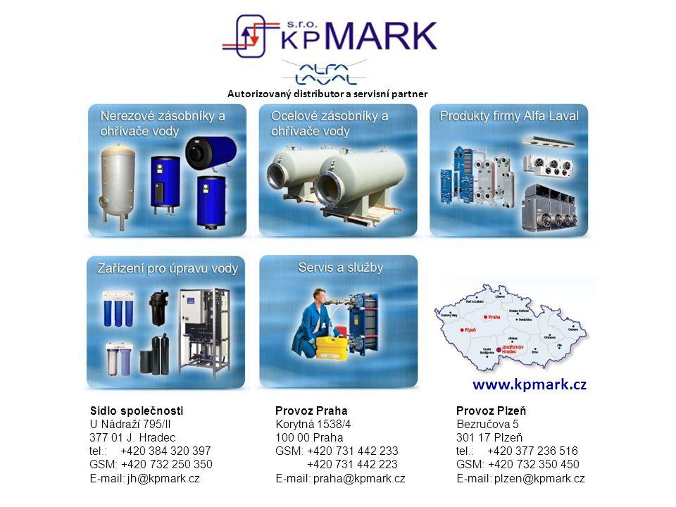 www.kpmark.cz Autorizovaný distributor a servisní partner