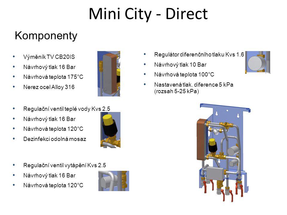Mini City - Direct Komponenty Regulátor diferenčního tlaku Kvs 1.6