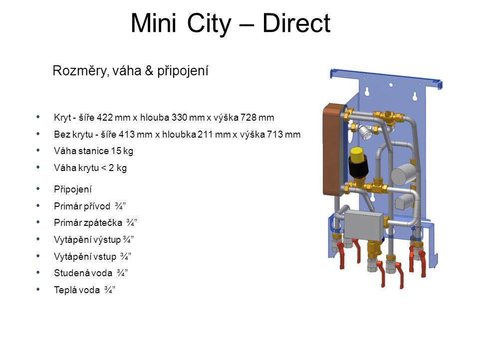 Mini City – Direct Rozměry, váha & připojení