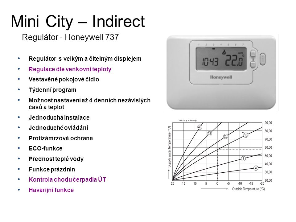 Mini City – Indirect Regulátor - Honeywell 737