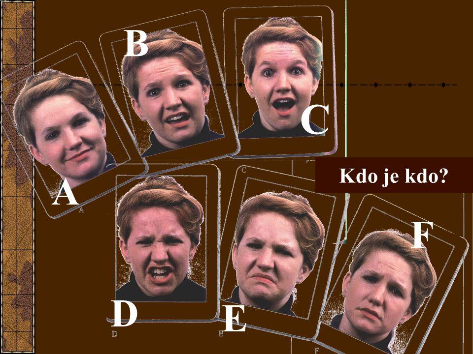 B C Kdo je kdo A F D E