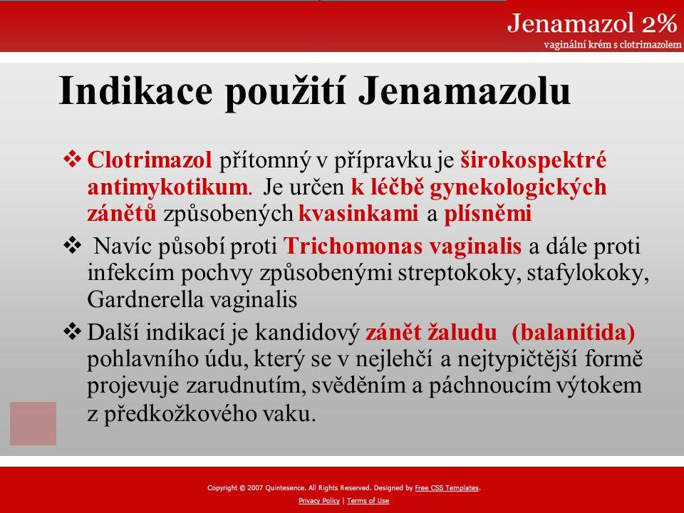 Indikace použití Jenamazolu