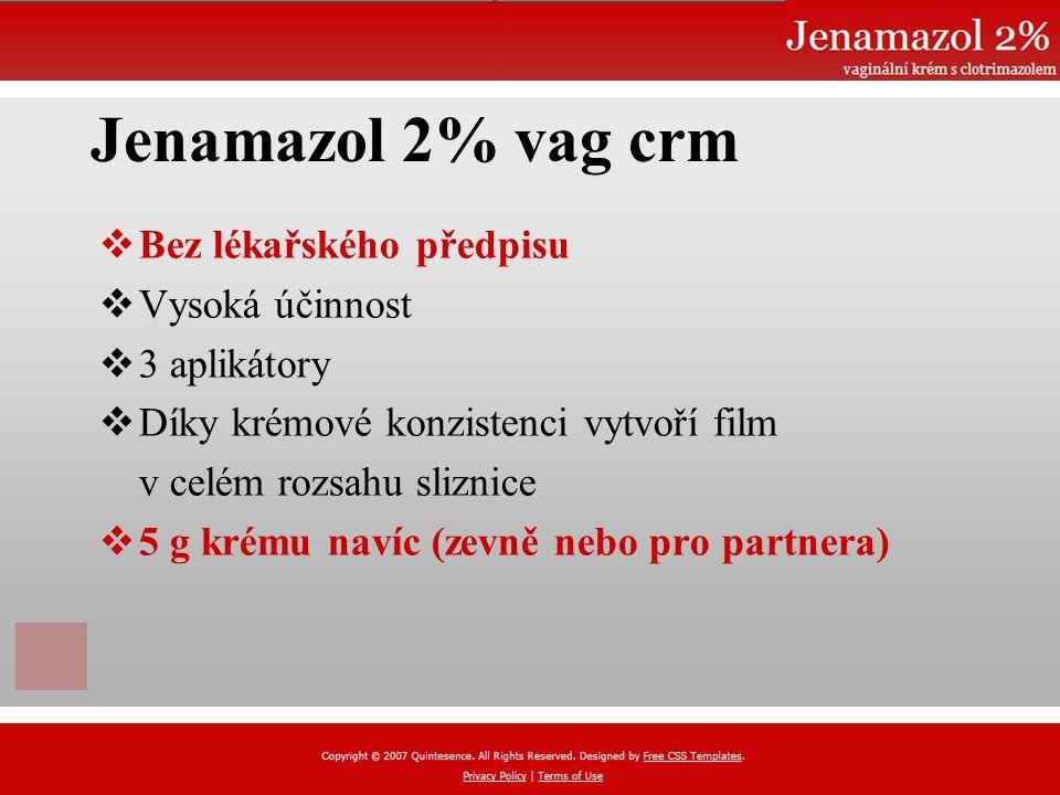 Jenamazol 2% vag crm Bez lékařského předpisu Vysoká účinnost