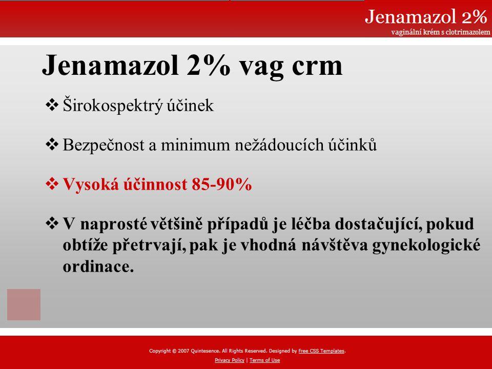Jenamazol 2% vag crm Širokospektrý účinek