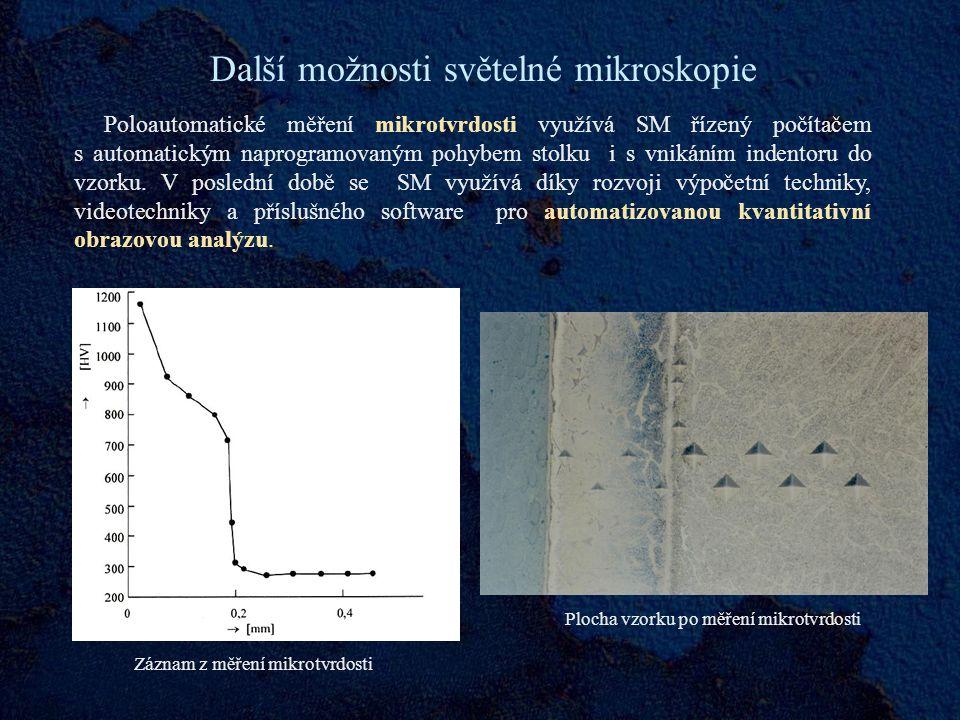 Další možnosti světelné mikroskopie