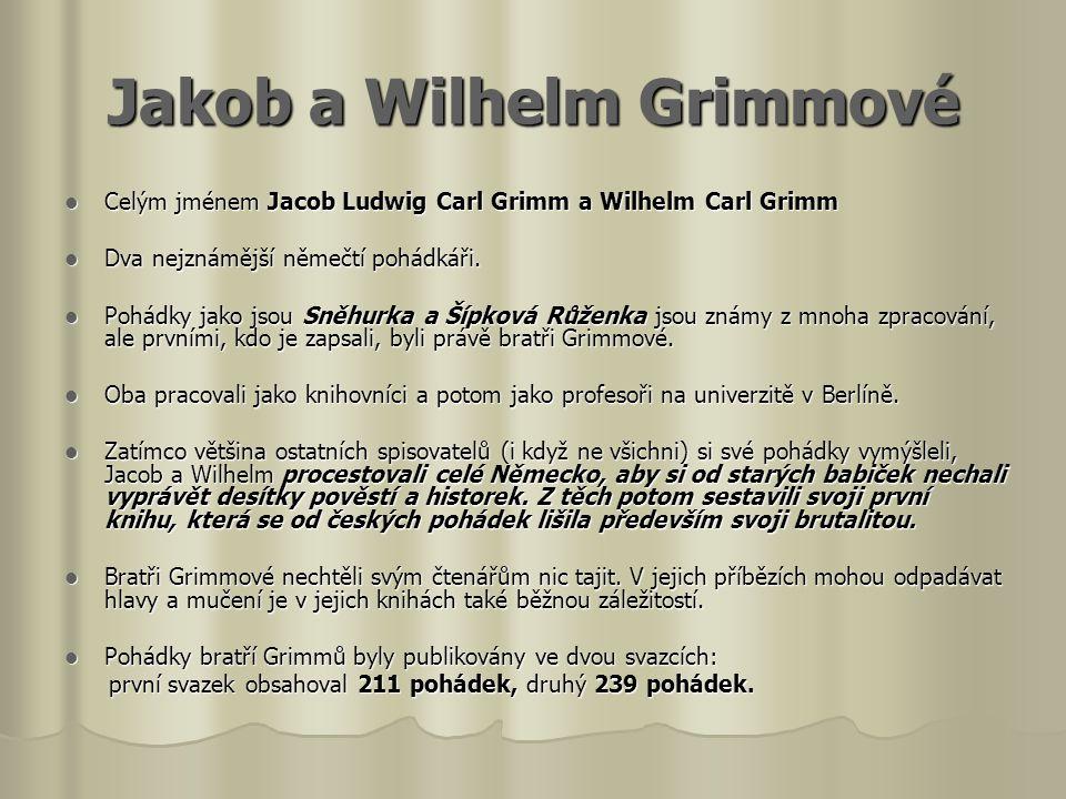 Jakob a Wilhelm Grimmové