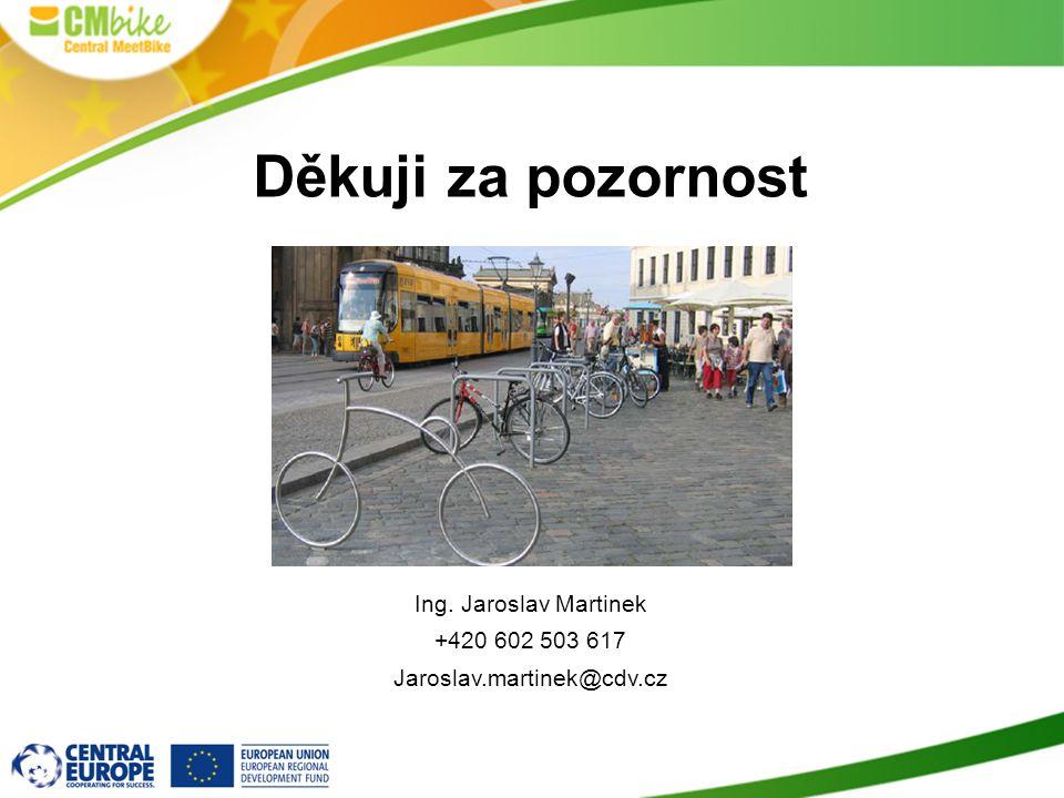 Děkuji za pozornost Ing. Jaroslav Martinek +420 602 503 617
