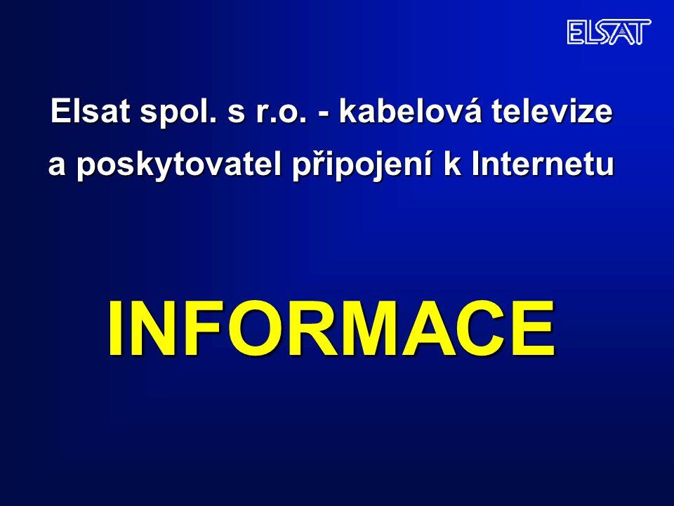Elsat spol. s r.o. - kabelová televize a poskytovatel připojení k Internetu INFORMACE