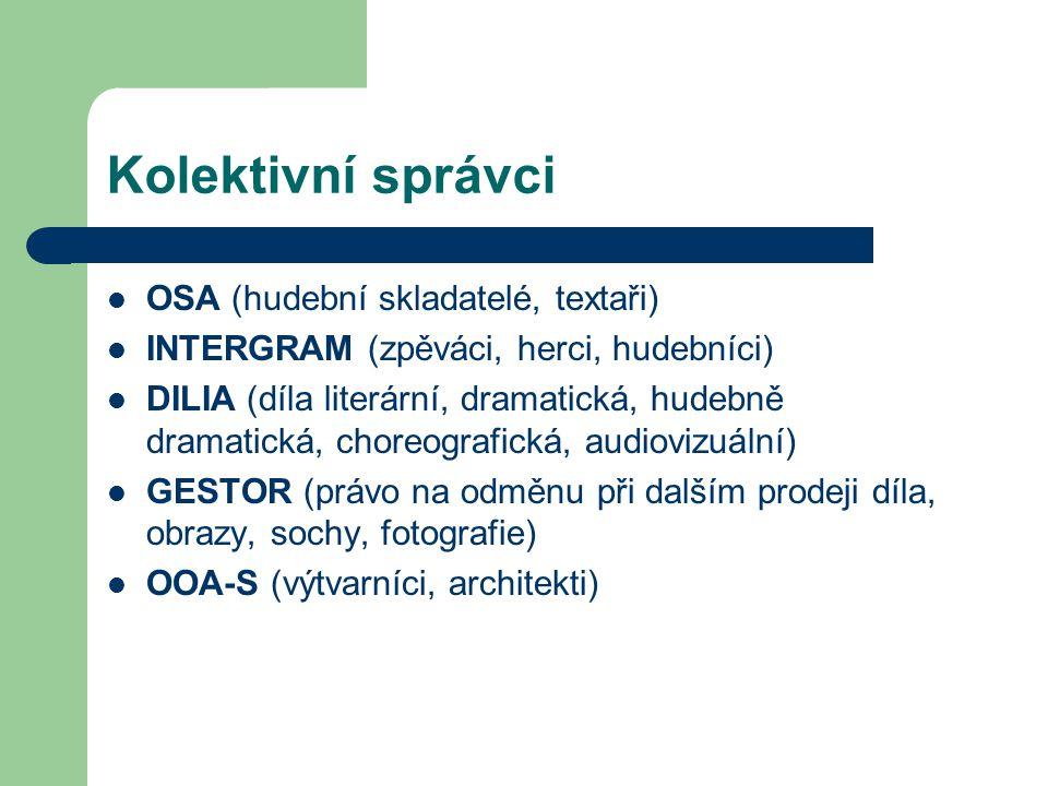 Kolektivní správci OSA (hudební skladatelé, textaři)