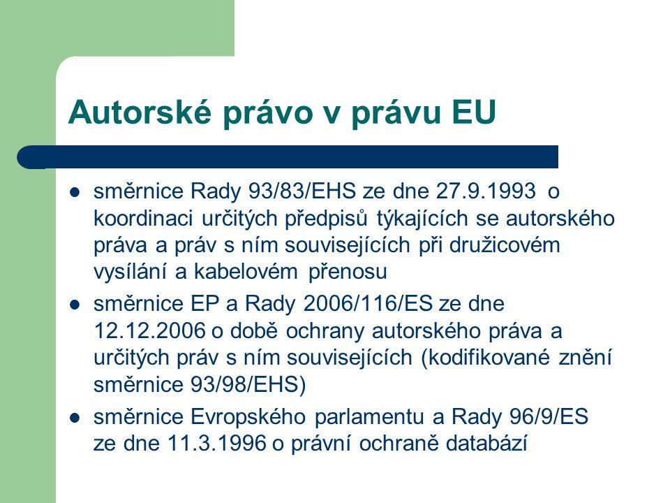 Autorské právo v právu EU