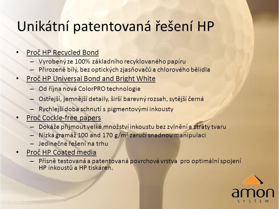 Unikátní patentovaná řešení HP