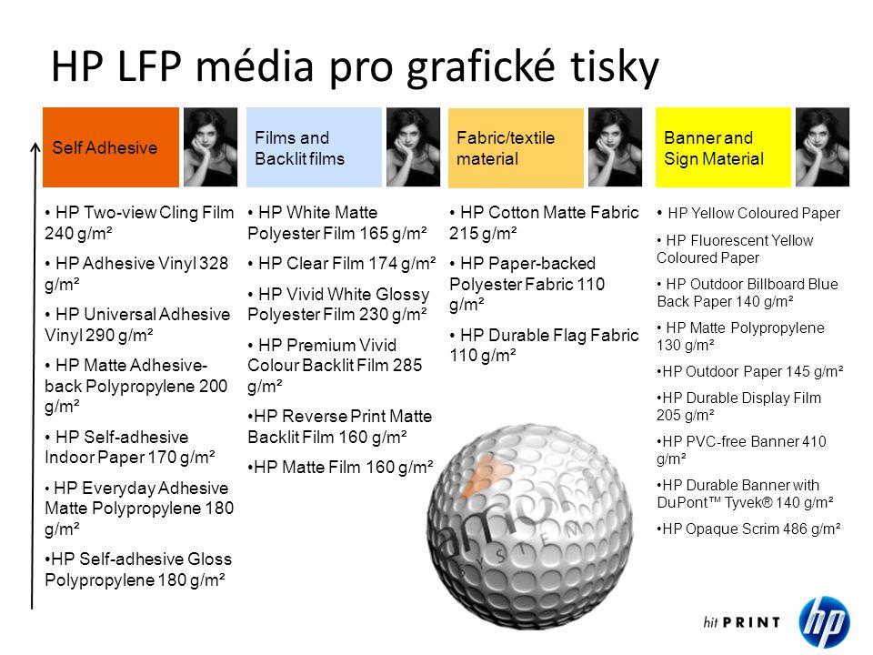 HP LFP média pro grafické tisky