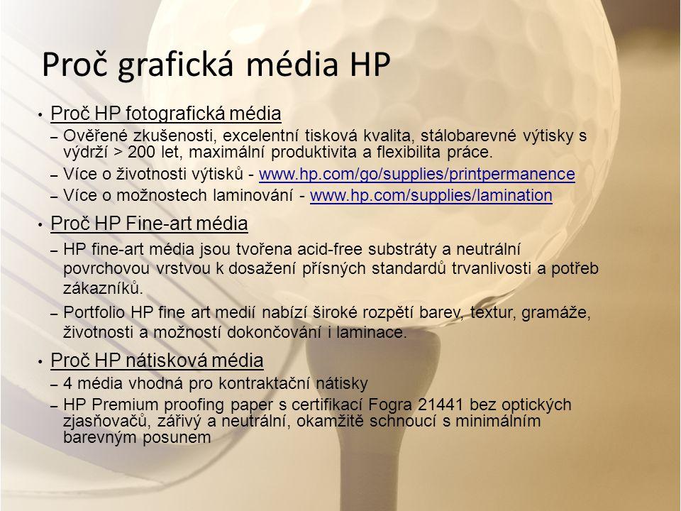 Proč grafická média HP Proč HP fotografická média