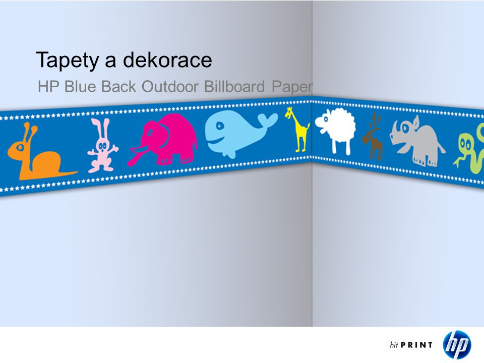 Wall decoration Tapety a dekorace HP Blue Back Outdoor Billboard Paper