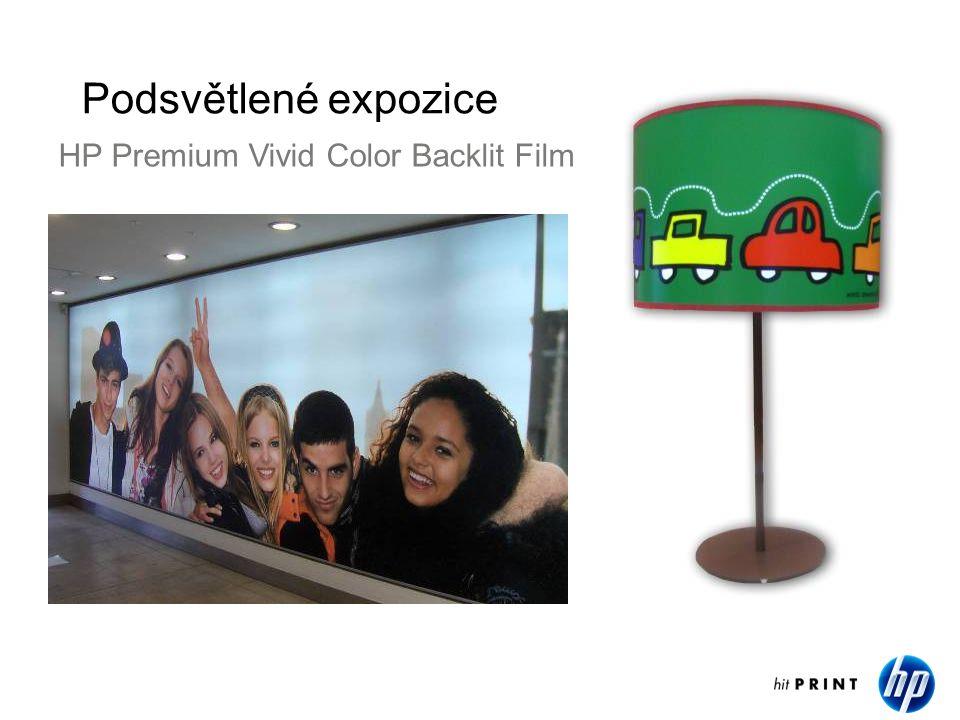 Podsvětlené expozice HP Premium Vivid Color Backlit Film