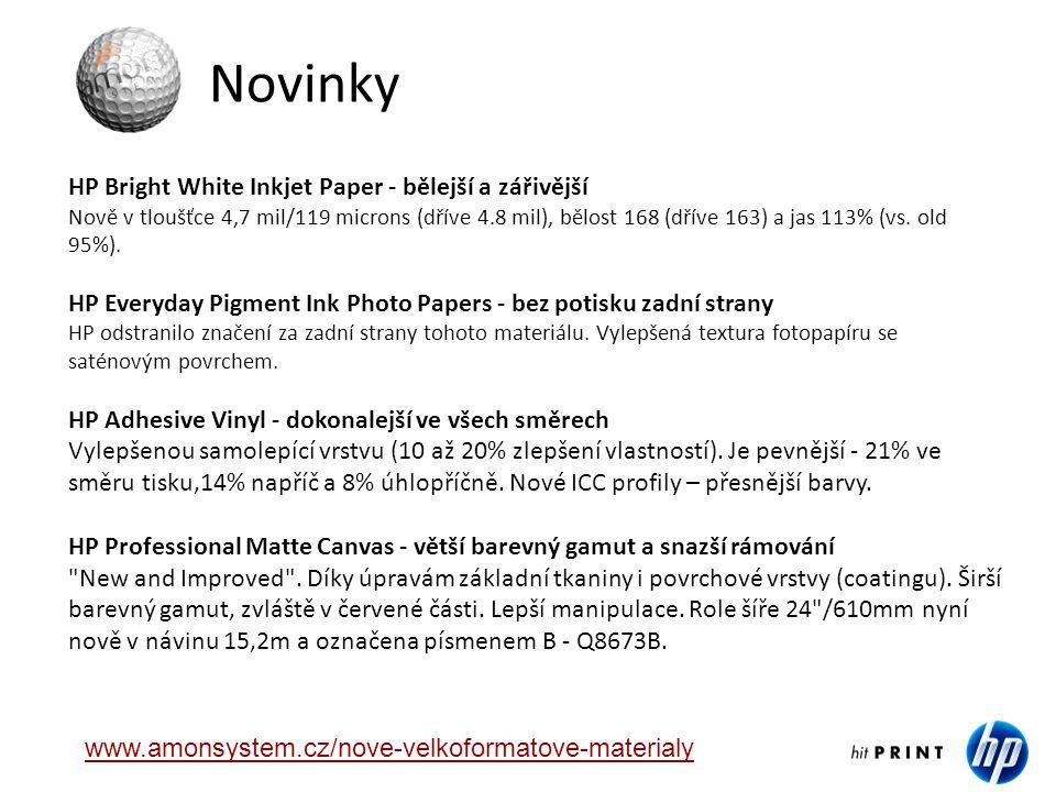 Novinky HP Bright White Inkjet Paper - bělejší a zářivější