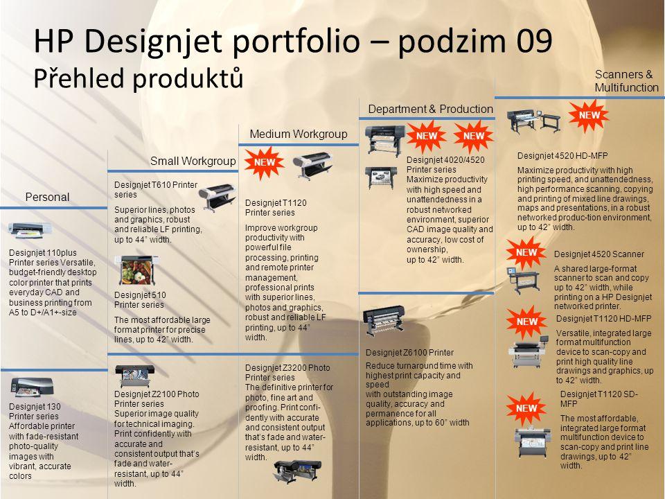 HP Designjet portfolio – podzim 09 Přehled produktů