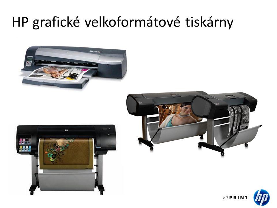 HP grafické velkoformátové tiskárny