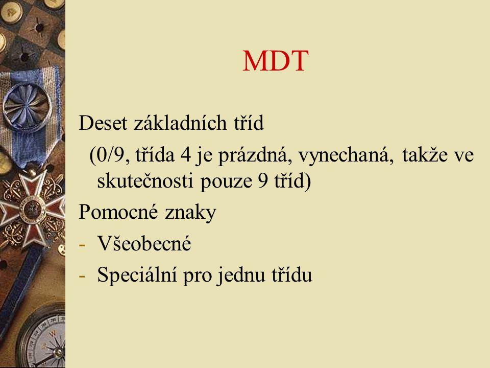MDT Deset základních tříd
